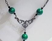 Emerald Green Malachite necklace