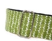 Retro Sleek in Olive Green MARTINGALE dog collar