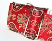 Dancing Dragon MARTINGALE dog collar
