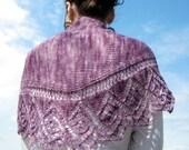 Allure Shawl - Knitting Pattern PDF download