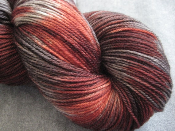 "Hand Dyed Sock Yarn - SW Merino - 490 yds - ""Zombie Apocalypse"""