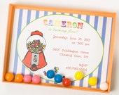 Luxury,Bubblegum Birthday Invitation - GUMDROPS