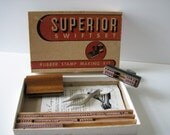 RESERVED FOR DEB: Superior Swiftset Rubber Stamp Making Kit