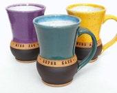 Personalized Pottery Mug, Custom Name Mug (TM),  Mud Pie Studio NC