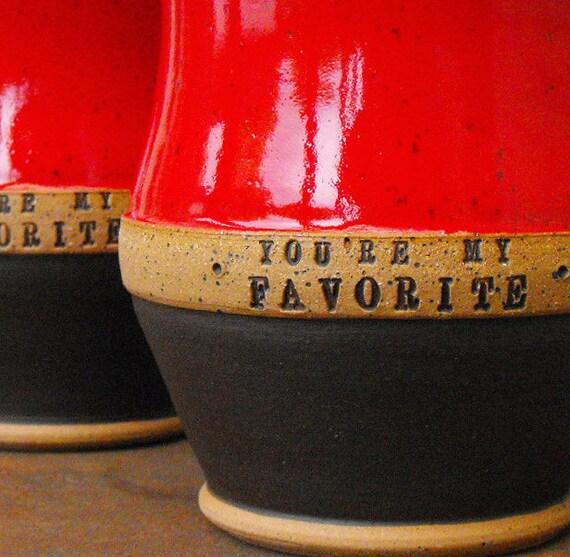 Custom Name Mug (TM) Scratch Made, Personalized Pottery Mugs by Mud Pie Studio