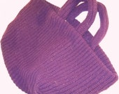 Large burgundy sweater bag pailsley lining