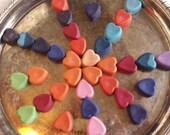 5 Heart Shaped Crayonscrayon,  heart crayon, valentine , heart , crayon heart, crayons, variety of colors, heart crayons, heart colors