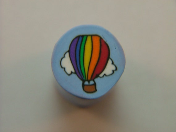 Colorful Rainbow Hot Air Balloon, Raw, Ready to use Polymer Clay Cane