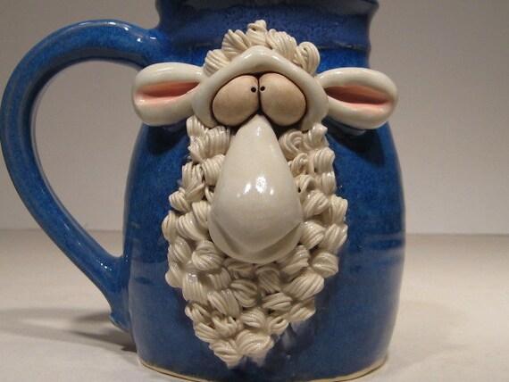 White Sheep Mug  .... Baaahhhh ...                   e45