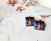 Dragon Scrabble Tile Earrings Dragon Earrings Dragon Queen Earrings Dragon Art