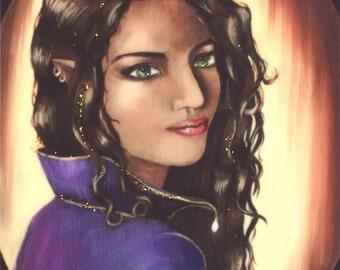 FAiry ACEO Fairy Art Fantasy ART Ethnic Fairy Portrait Fairy Queen Royal Faerie Faery Elf