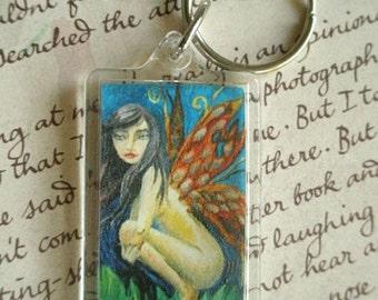 Fairy Keychain Fairy Keyring Fantasy Art Faerie Faery Butterfly Wings