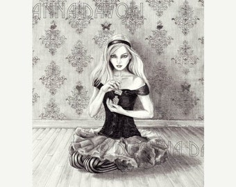 Alice In Wonderland 11x14 ArtPrint Fairy Tale