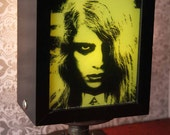 Night of the Living Dead--GHOUL GIRL lamp--signed by Kyra Schon w/ COA