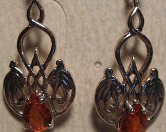 Spessartite Garnet Sterling Silver Earrings    ....      E133