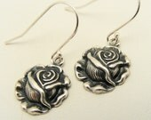 Portland Rose Festival Silver Rose Earrings worn by royal court princesses