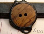 SALE - Wood Grain Button Charm