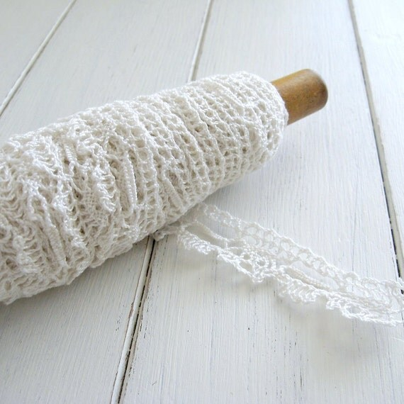 vintage lace spool