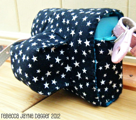 Black Star Cotton Diana Mini Camera Case