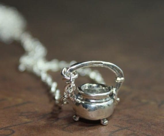 Cauldron necklace for Halloween FREE USA SHIPPING