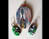 Puzzle Pendant and earrings 3