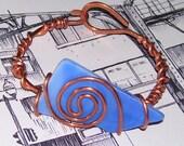recycled bracelet of blue glass