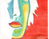 harlequin diva watercolor