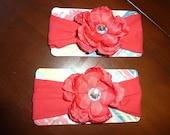 Bright Red Flower Headband