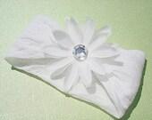 White Daisy Stretchy Headband