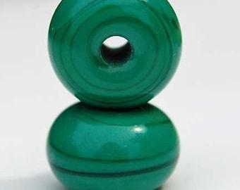 Petrol Green, 25 round handmade glass beads, dark green spacer by Beadfairy Lampwork, SRA