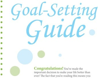 2016 Resolutions Planner Goal Setting Guide - INSTANT DOWNLOAD