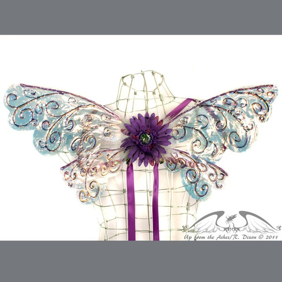 Chloe No.6 - Small Cellophane Fairy Wings in Purple