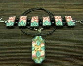 RESERVED LISTING Rays of Sun - Polymer Clay OOAK Jewelry Set
