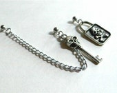 Pirate Lock and Key Cartilage Chain
