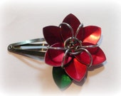 Scale Flower Hair Clip - Custom Colors