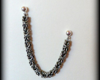 Antiqued Silver Byzantine Cartilage Chain