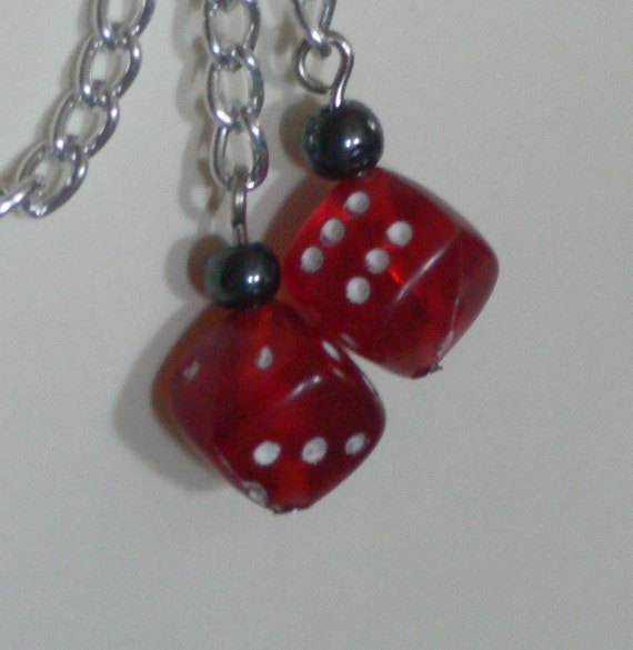 Red Dice Cartilage Earring
