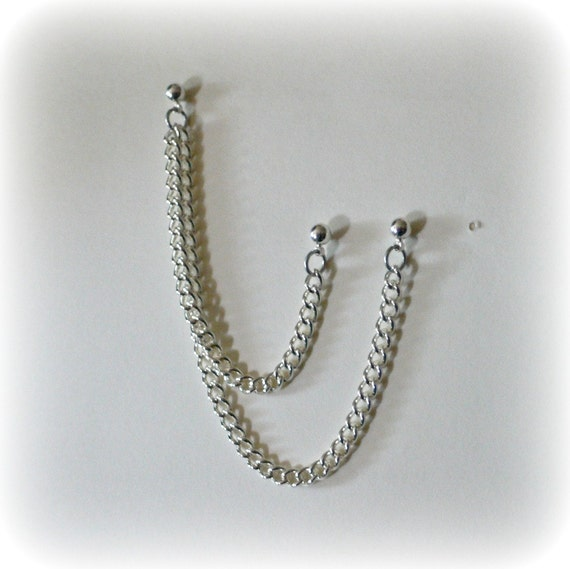 Cartilage Chain Earring Etsy Cartilage Chain Earring