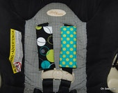 Cute Lagoon Hoopla and Dots Reversible Car Seat Strap Covers