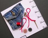 Fab Handmade Sewing Card