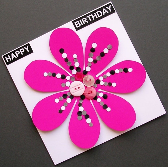 how to make a pop out flower card