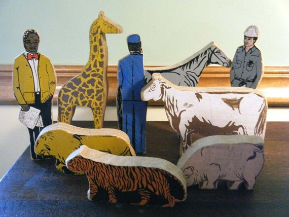 Lot of Vintage Wood Animals and People SALE PRICE