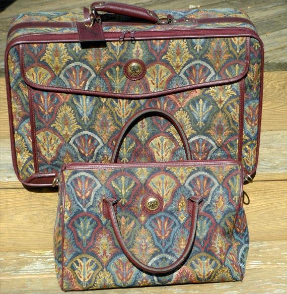 Vintage Diane Von Furstenberg Luggage Set Suitcase And Tote