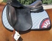 Art Saddle Pad, Eventing, Hunter Jumper, Grey