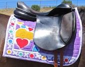 Equine Couture Art  Saddle Pad Dressage Heavy Cotton