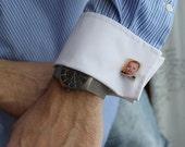 Personalized Custom Wedding Cufflinks using your photos - jewelry for men, groom cufflinks, father of the bride cufflinks, scrabble tiles