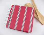 Mini Notebook Nautical Stripes in red, blue and white / ready to ship
