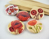 Fridge Magnets - Poppies Home & Living, Organization, Kitchen Five 1 Inch button magnets no 2 1219