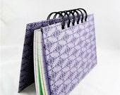 Mini Notebook 3 x 5 index cards / recipe book / spiral bound /  Purple Lavender Plum