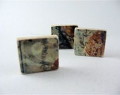 Abstract Fridge Magnets / Green Gold Brown / ready to ship
